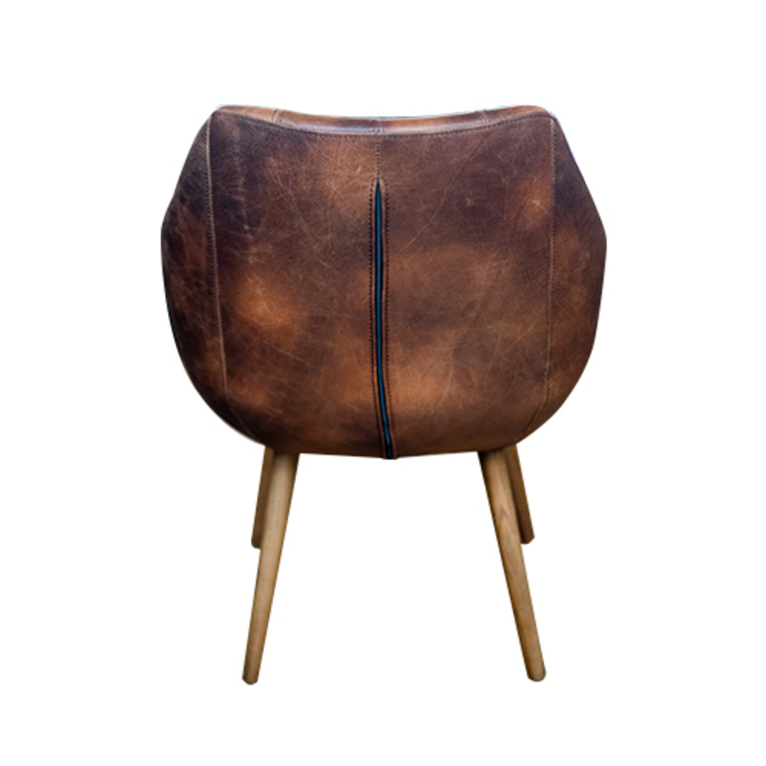Eden Chair-Brown Leather image 2