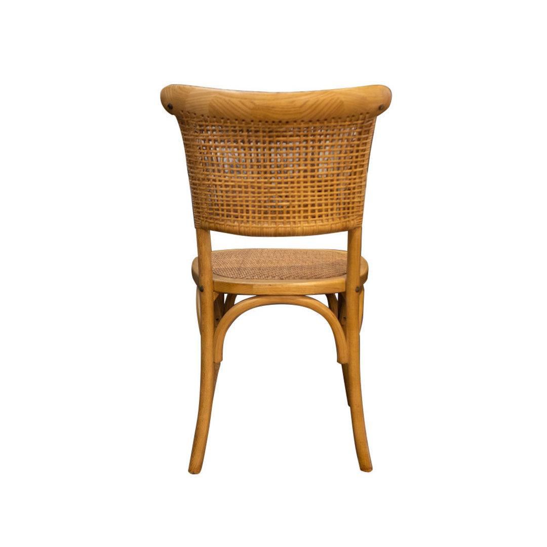Rattan Weave Dining Chair Oak image 2