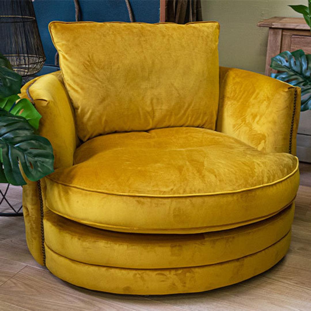 Roxy Twister Chair Plush Turmeric image 5