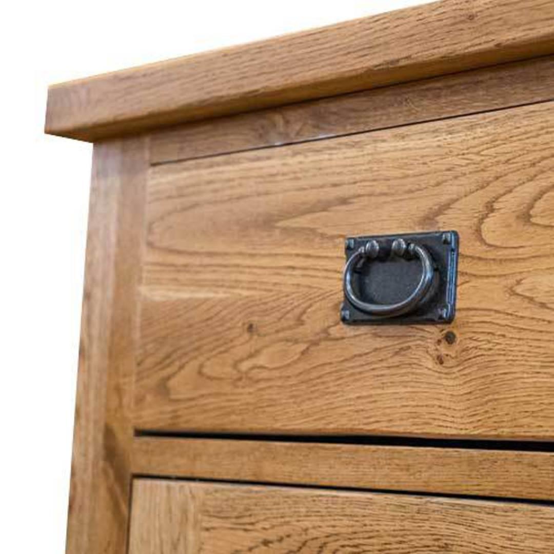 American Light Oak 3 Door Sideboard image 6