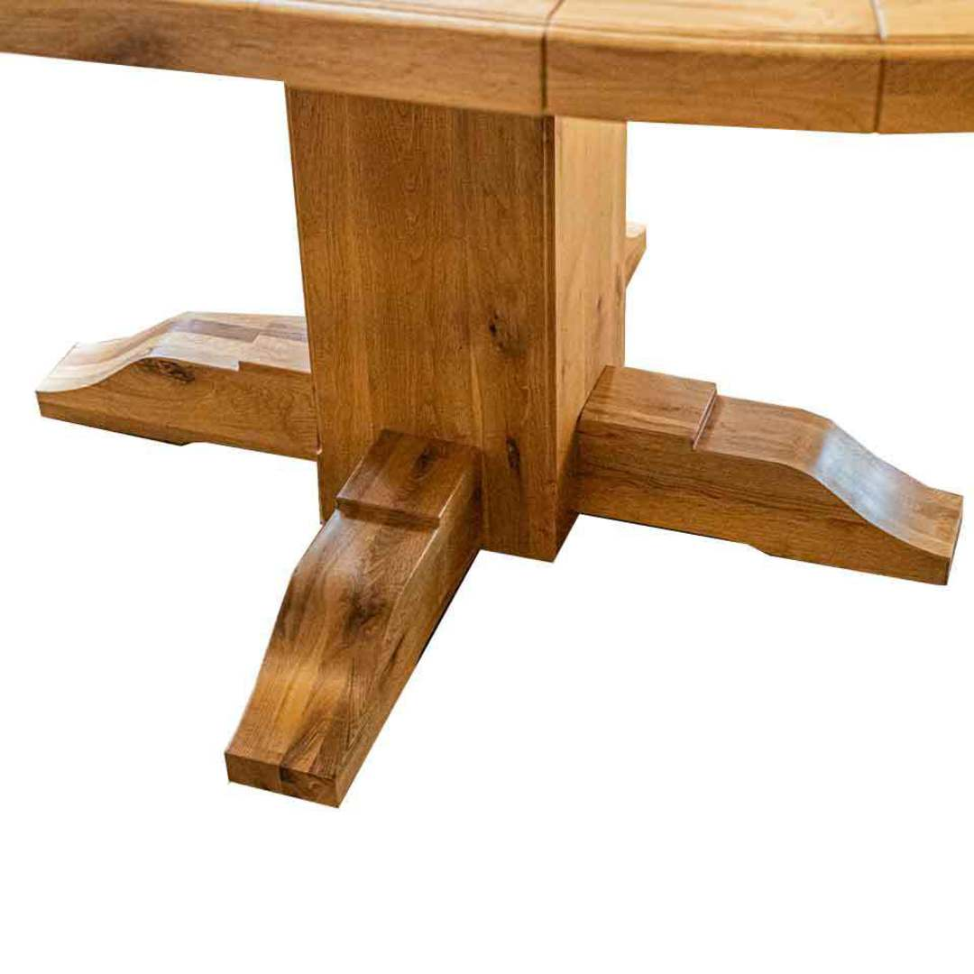Oak Round Extension Table image 2