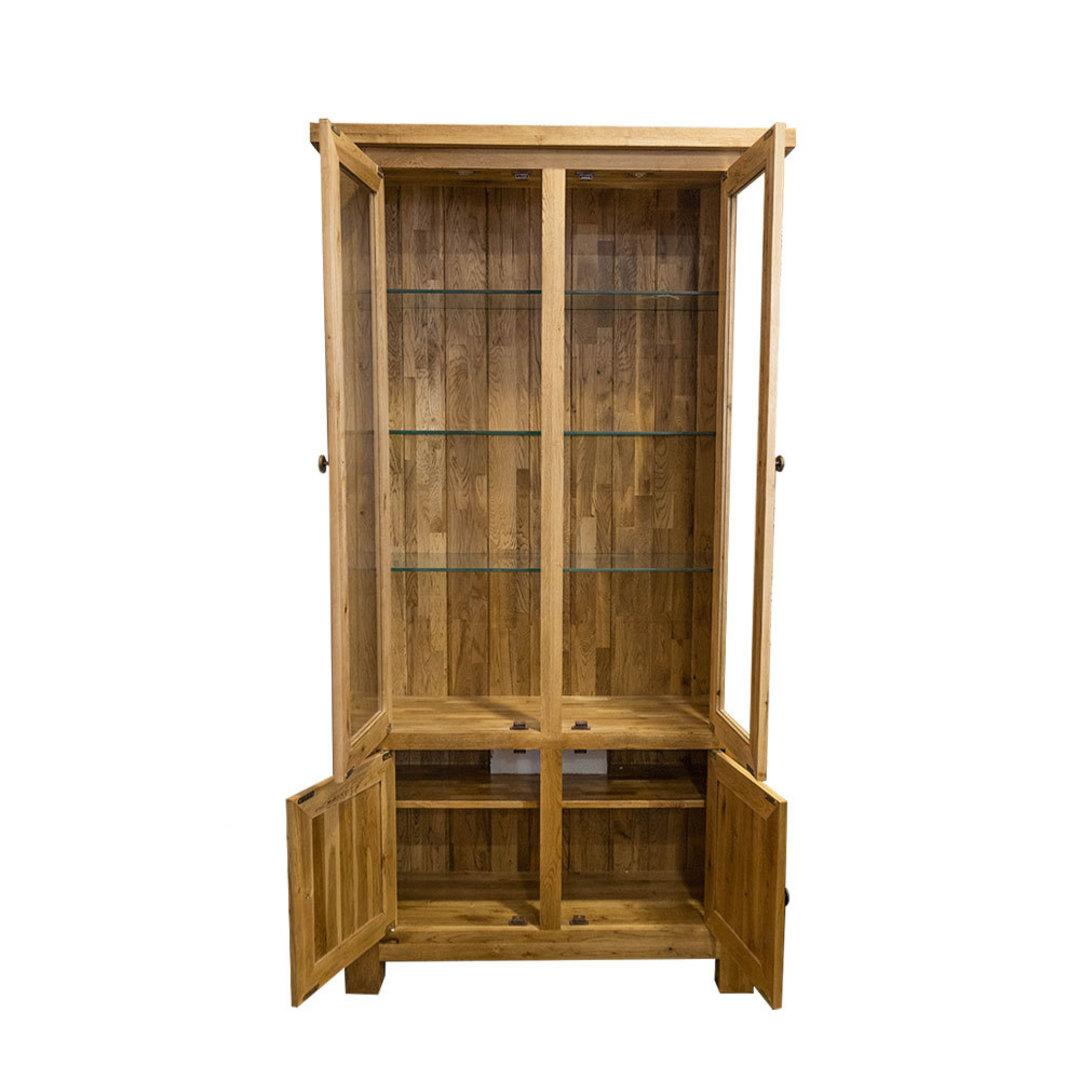 Light Oak Display Cabinet image 1