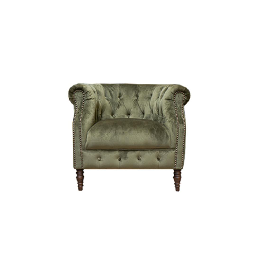 Jude Chair Plush Velvet Green image 0
