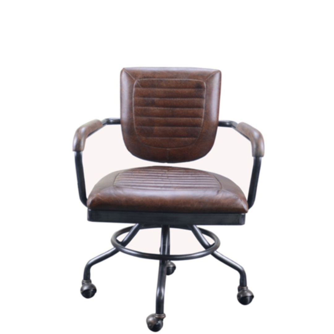 Rio Vintage Leather Chair Brown with Arm image 0