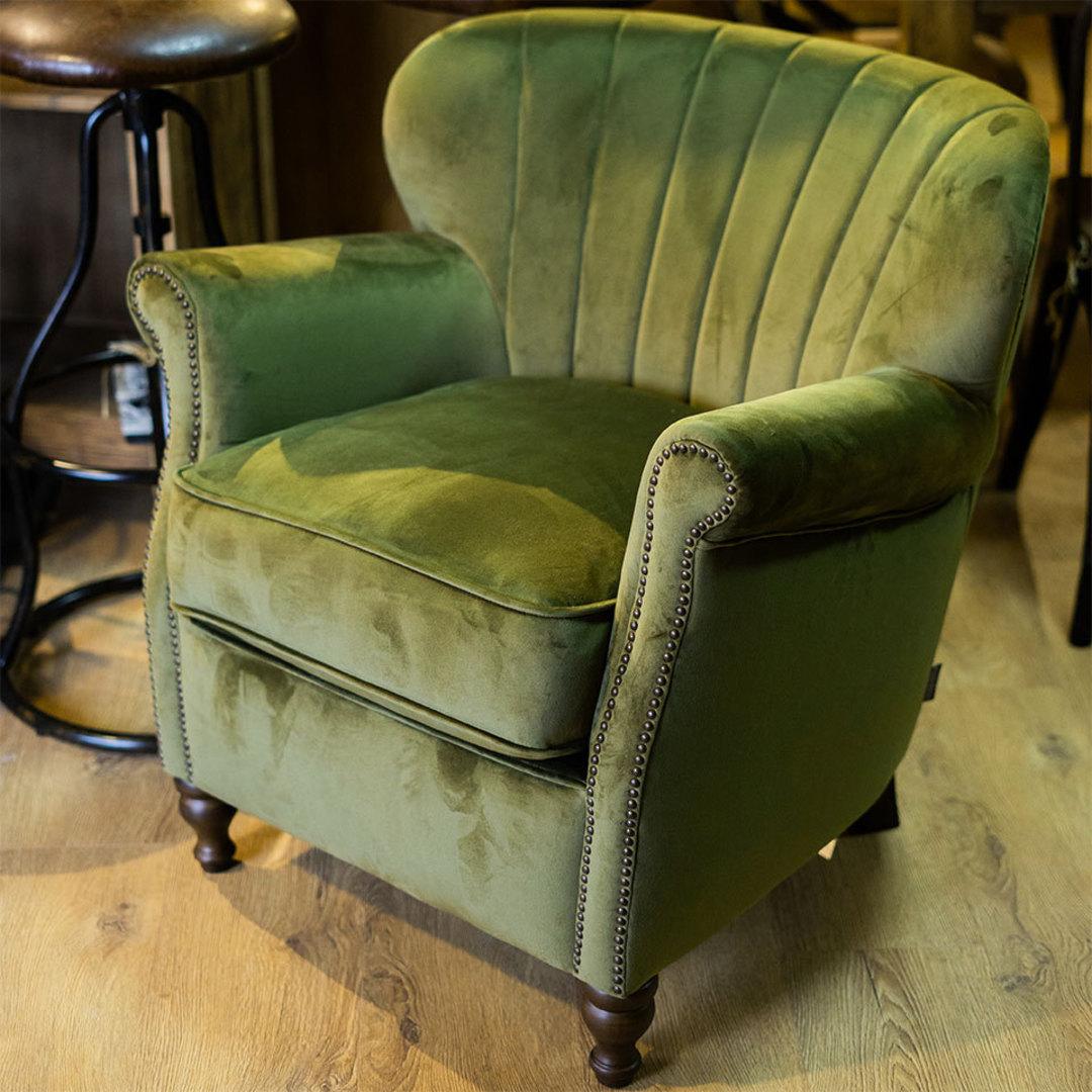 Percy Chair Plush Velvet Green image 2