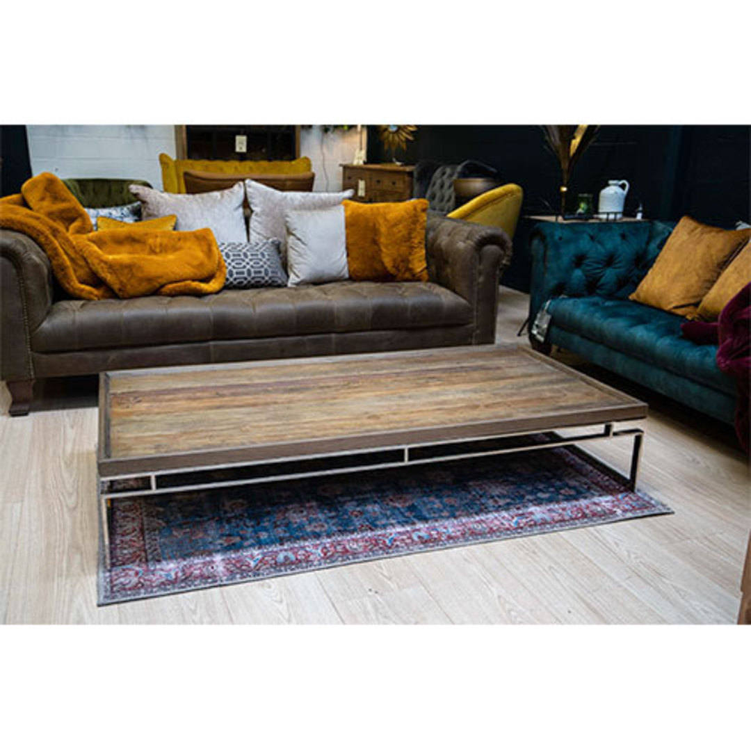 Providence Coffee Table Reclaimed Elm & Stainless Steel image 7