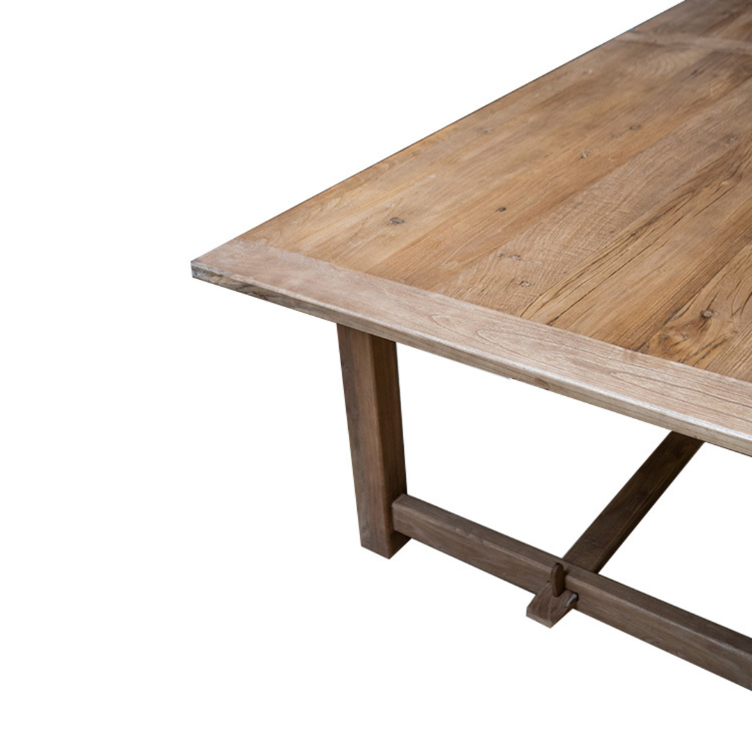 Recycled Elm Farmhouse Dining Table 2.1M image 2