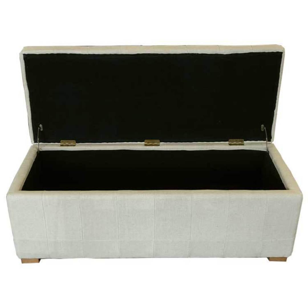 Cuba Linen Ottoman Blanket Box image 2