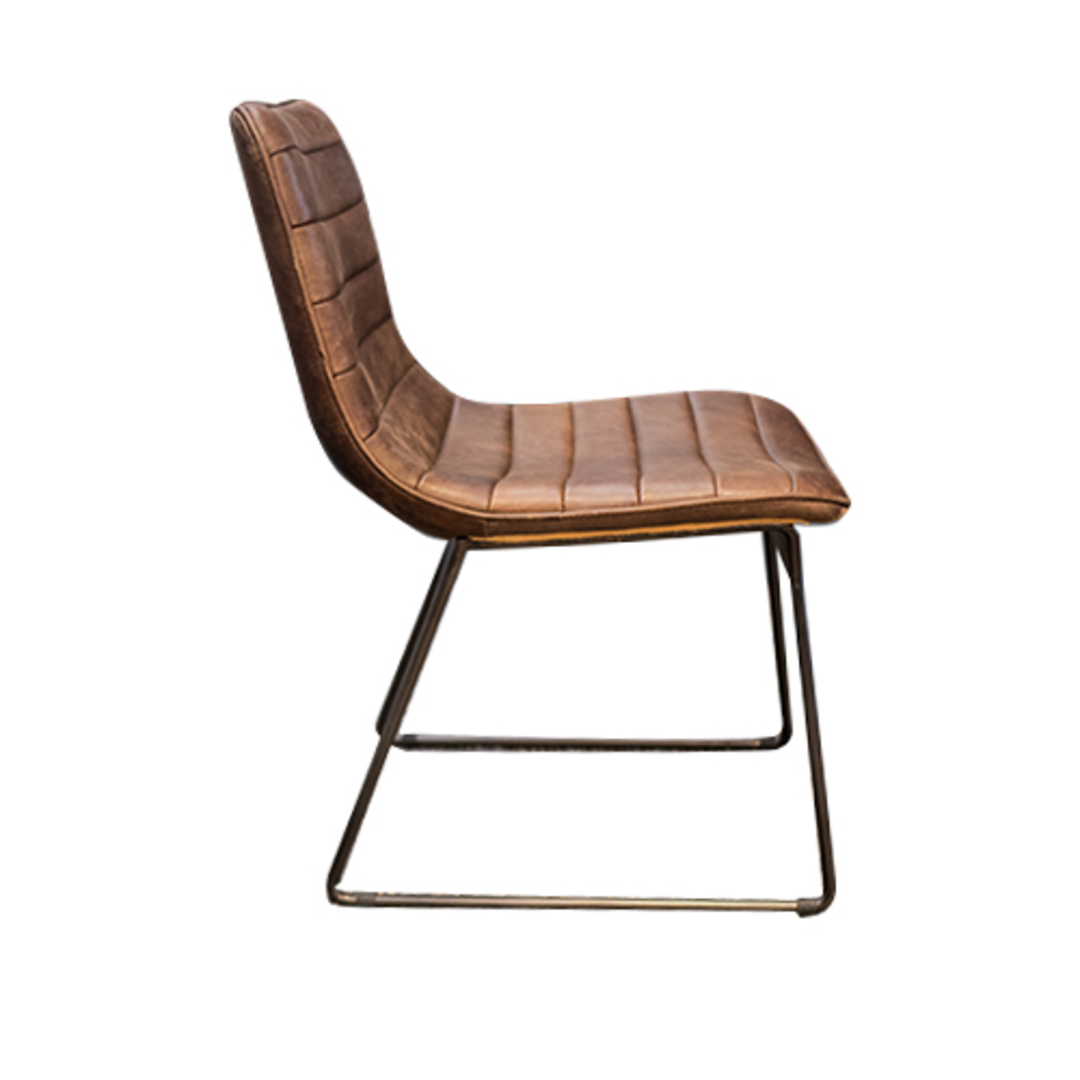 Amalfi Leather Dining Chair image 1