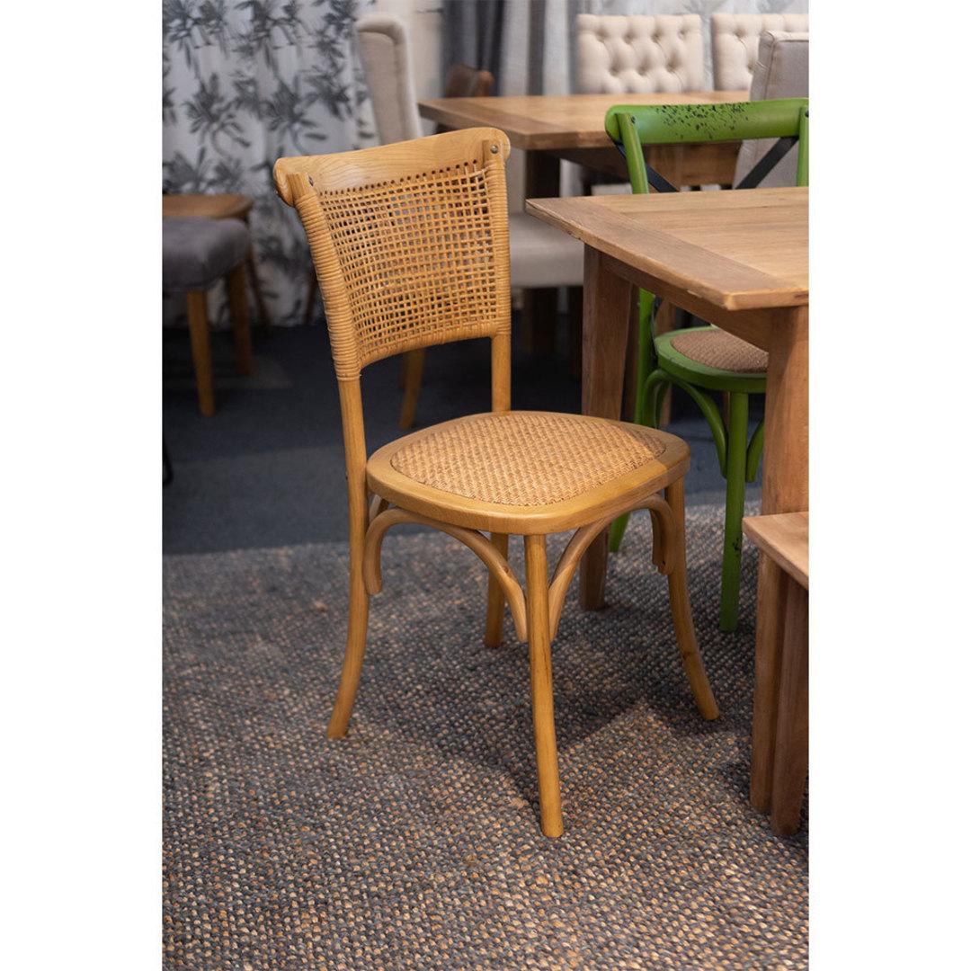 Rattan Weave Dining Chair Oak image 3