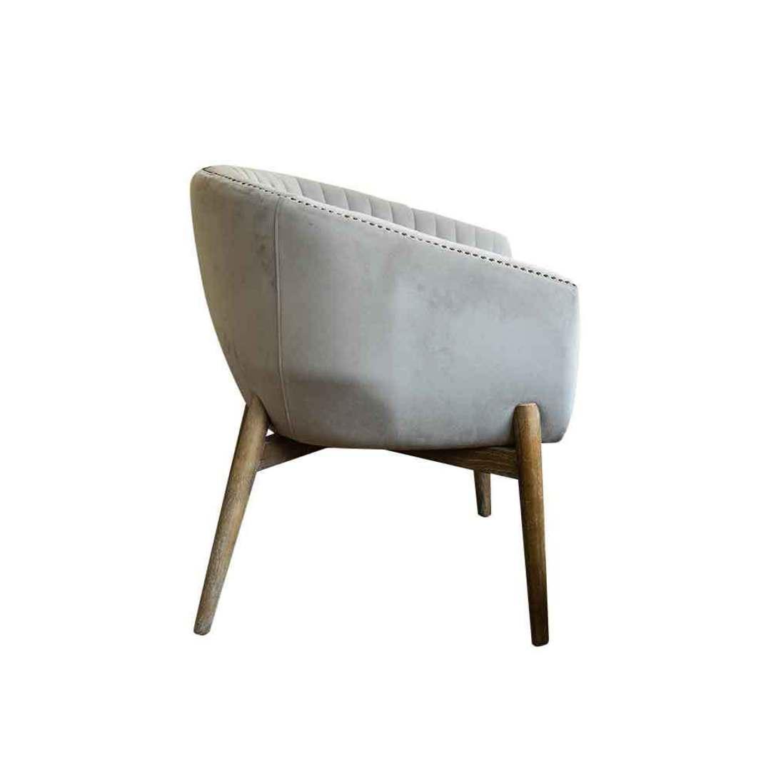 Cairo Velvet Carver Chair - Grey image 2