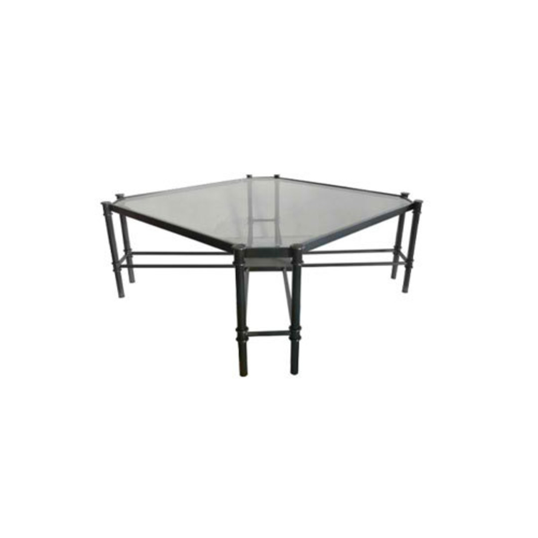 Coffee Table Jade - Gun Metal Stainless Steel and Glass image 0