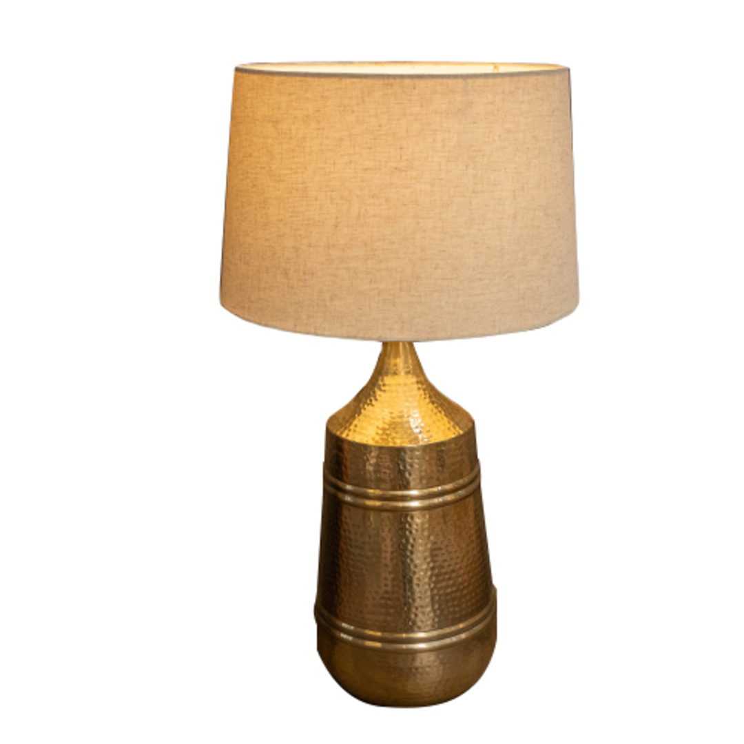 Brass Etched Table Lamp image 0