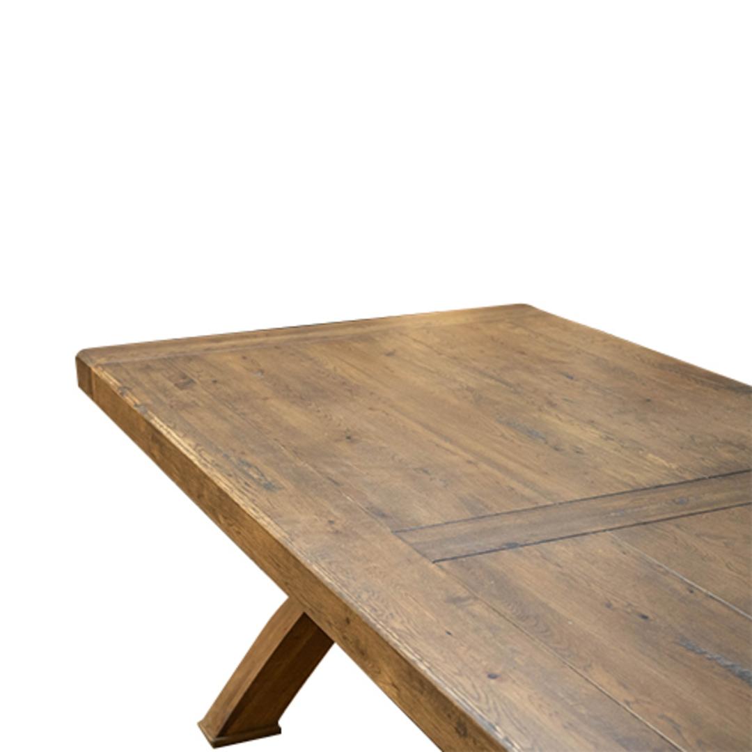 Antique Light Oak Chateau Table 2.1M image 3