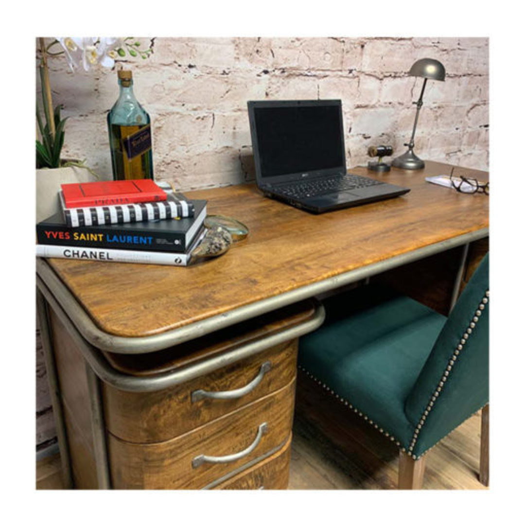 French Art Deco Desk - Rustic image 2