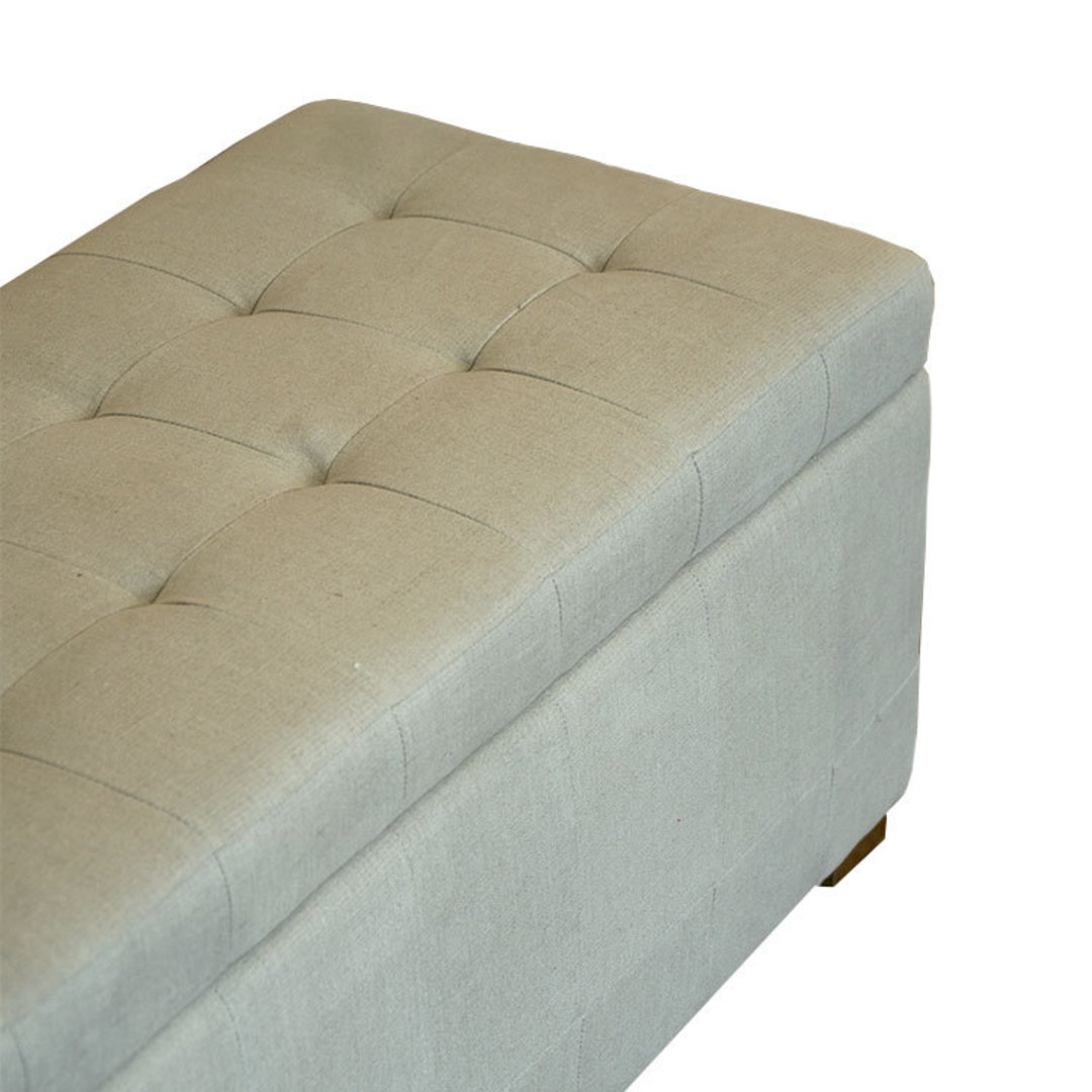 Cuba Linen Ottoman Blanket Box image 3