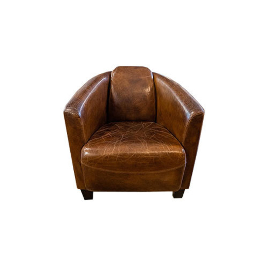 Manchester Aged Italian Leather Chair image 1
