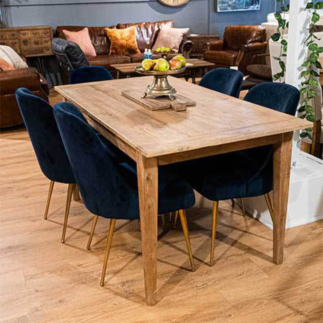 French Dining Table Reclaimed Elm 1.5M image 7