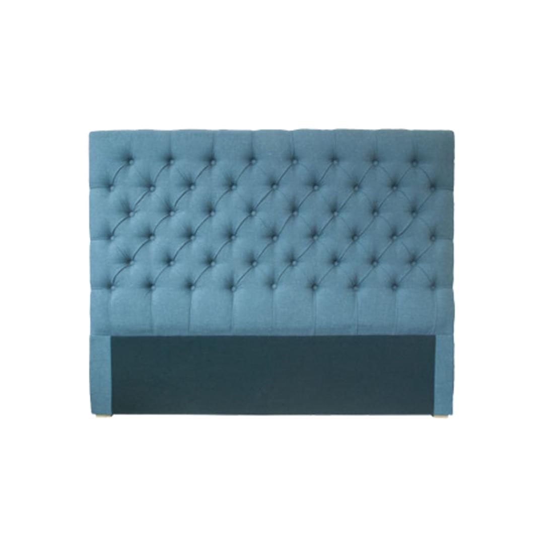 Cuba Super King Size Bed Head Linen Dark Grey image 0