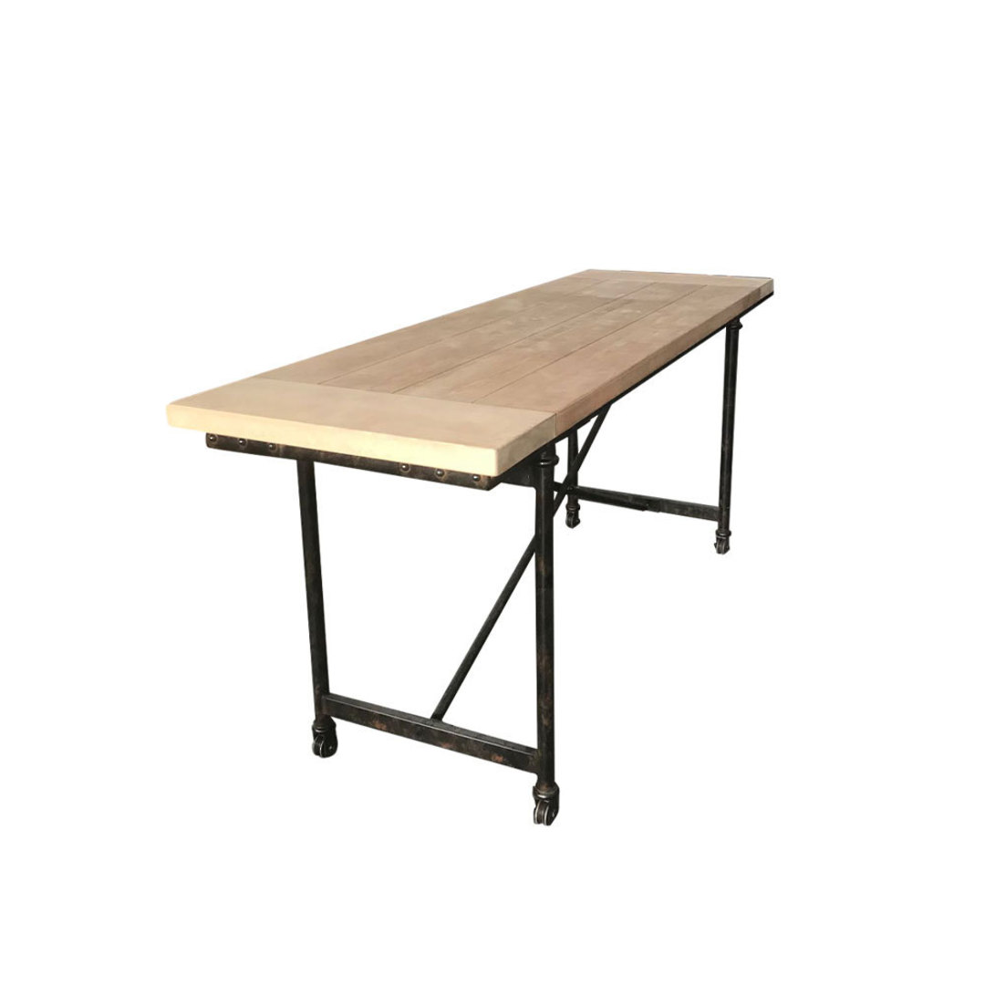 Industrial Dining Table Old Pine - 1.8m image 0