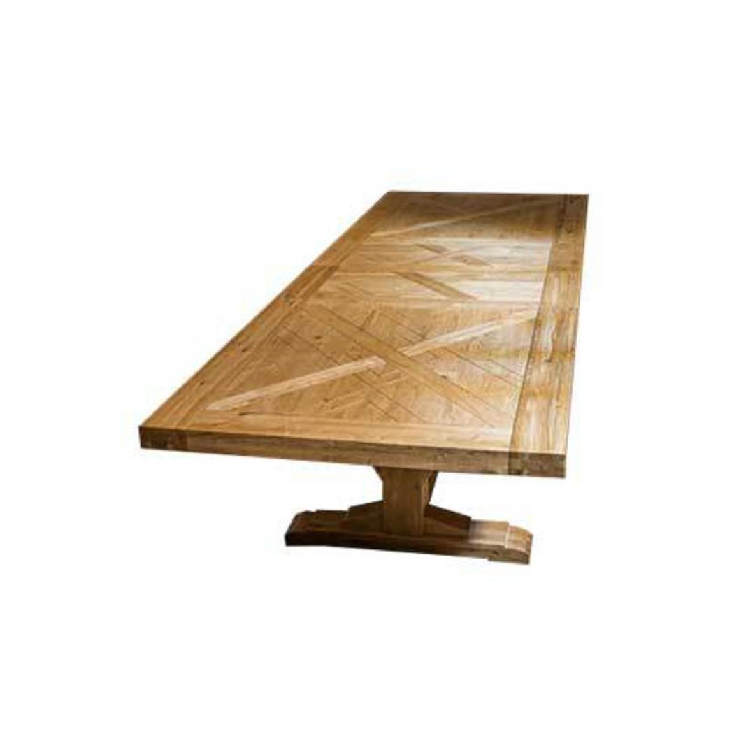 Oak Double Extension Table Parquet Top image 2