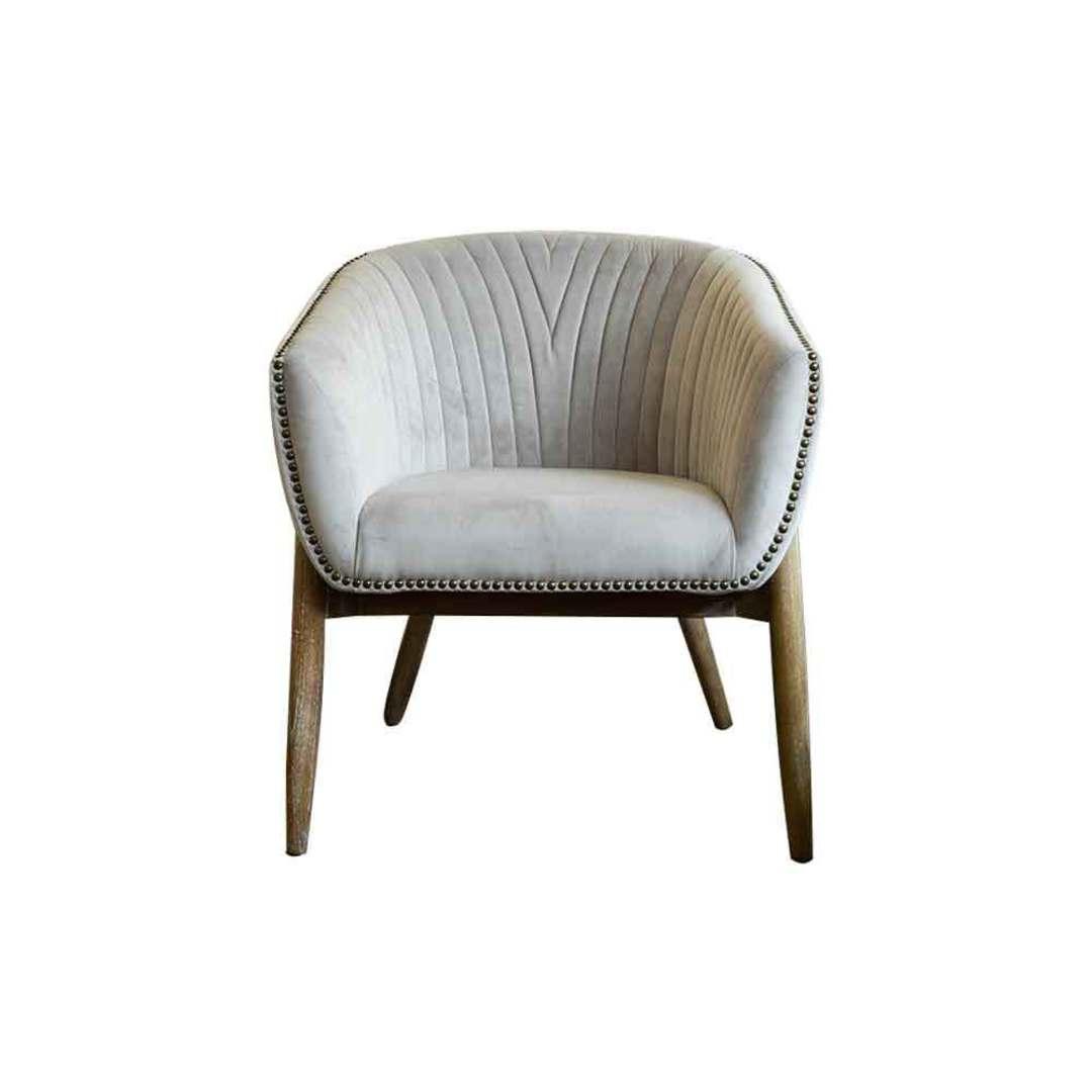 Cairo Velvet Carver Chair - Grey image 1