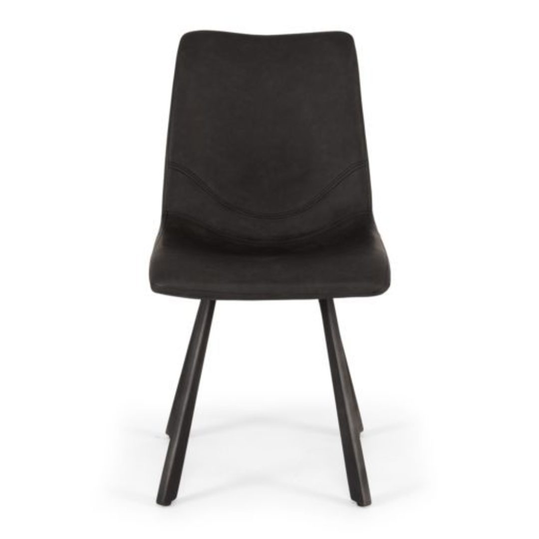 Rustic Dining Chair Grey PU image 1