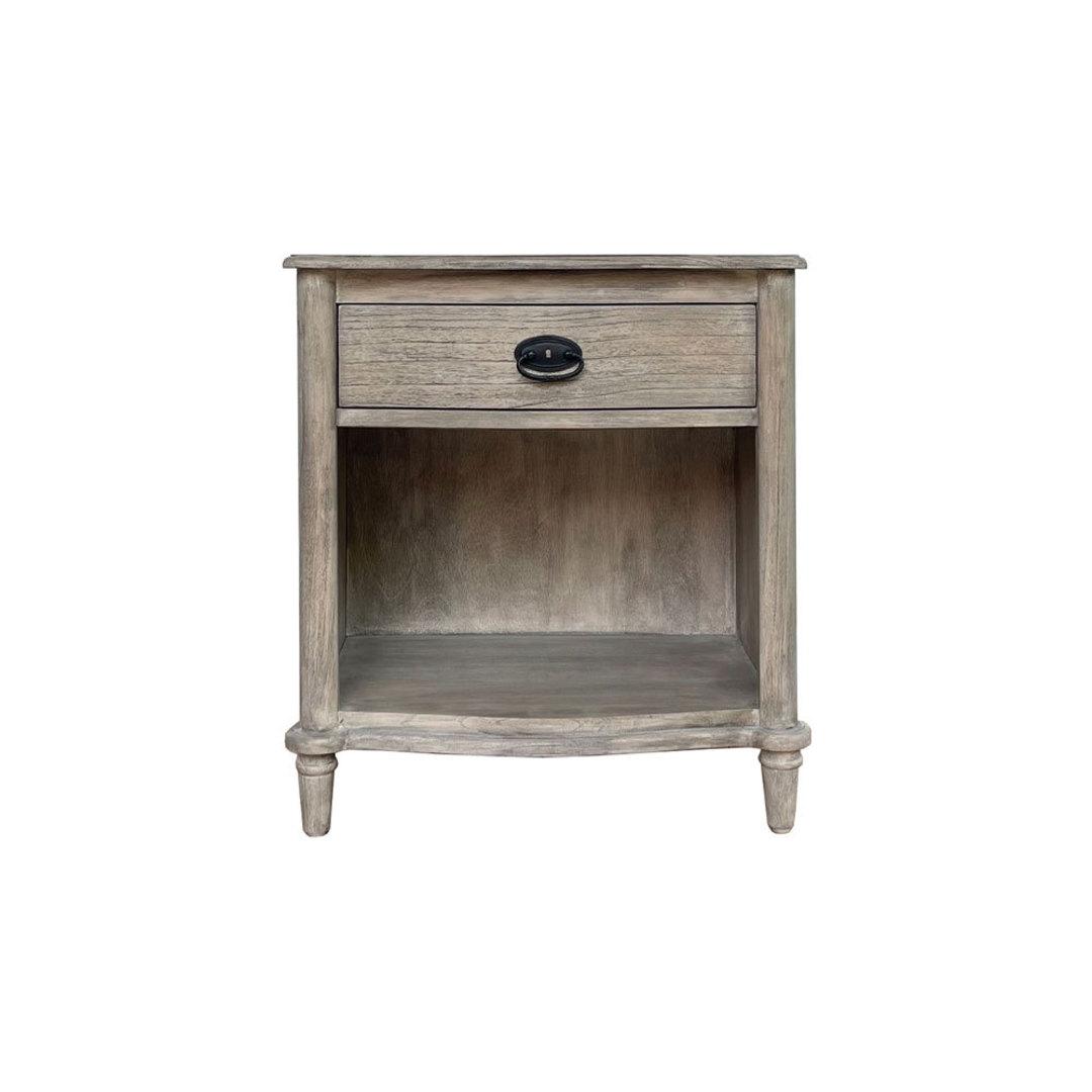 Bayur Grey Washed Oak Bedside image 0