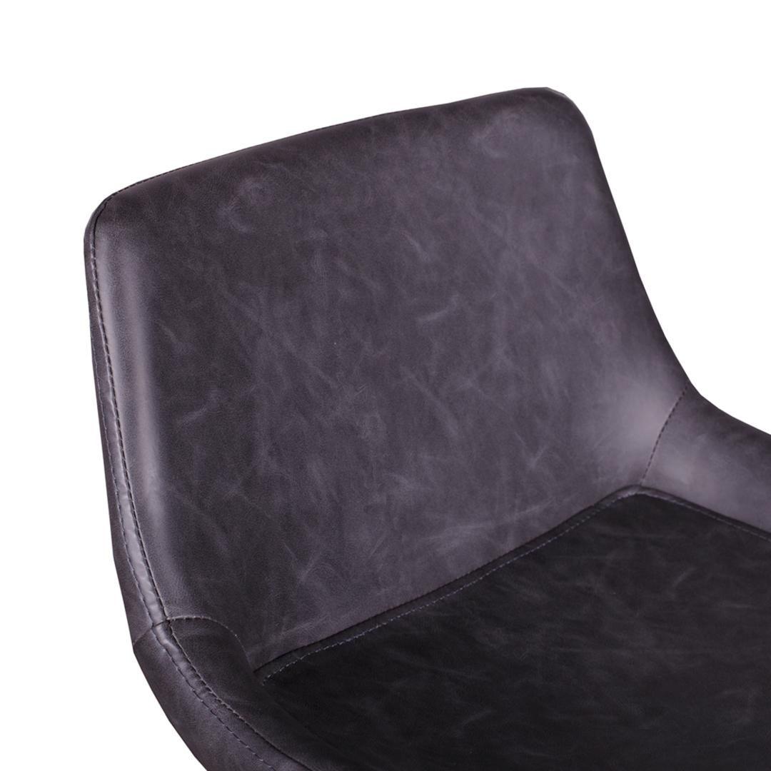 Vintage Grey PU Barstool image 2