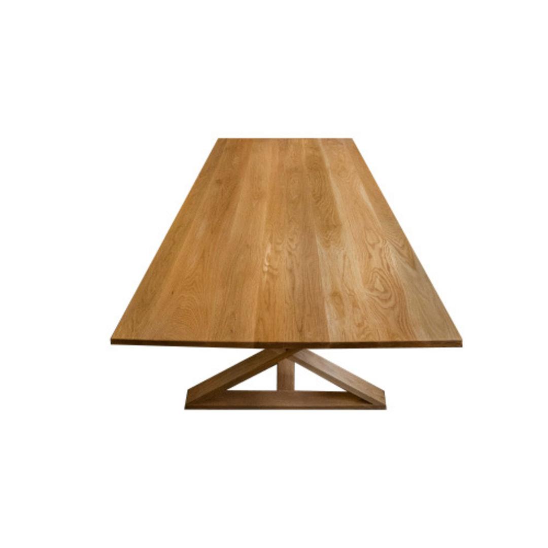Oakleigh X-Leg Oak Table 2M image 3