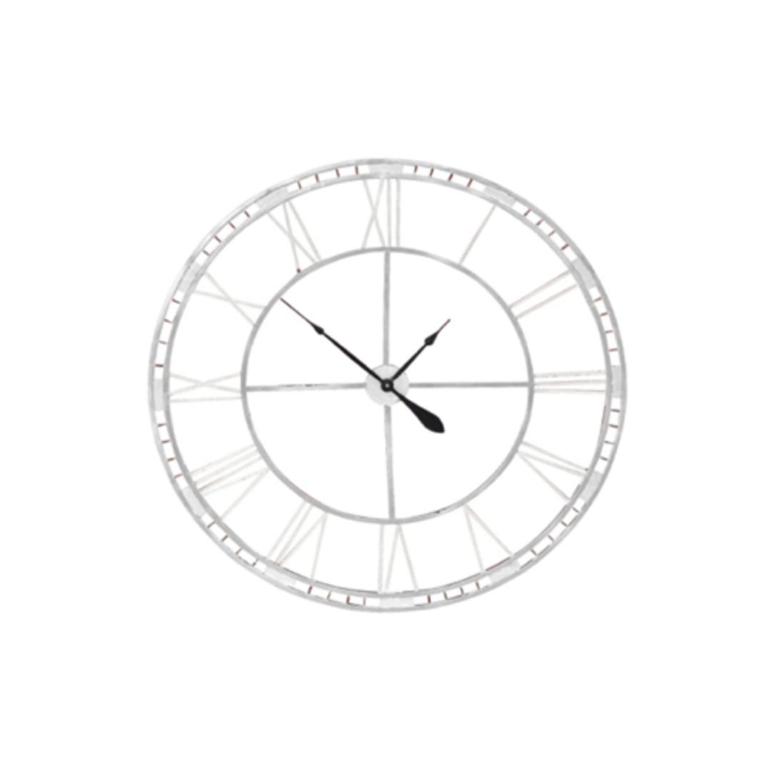 Outdoor Clock - Antique White Finish image 0