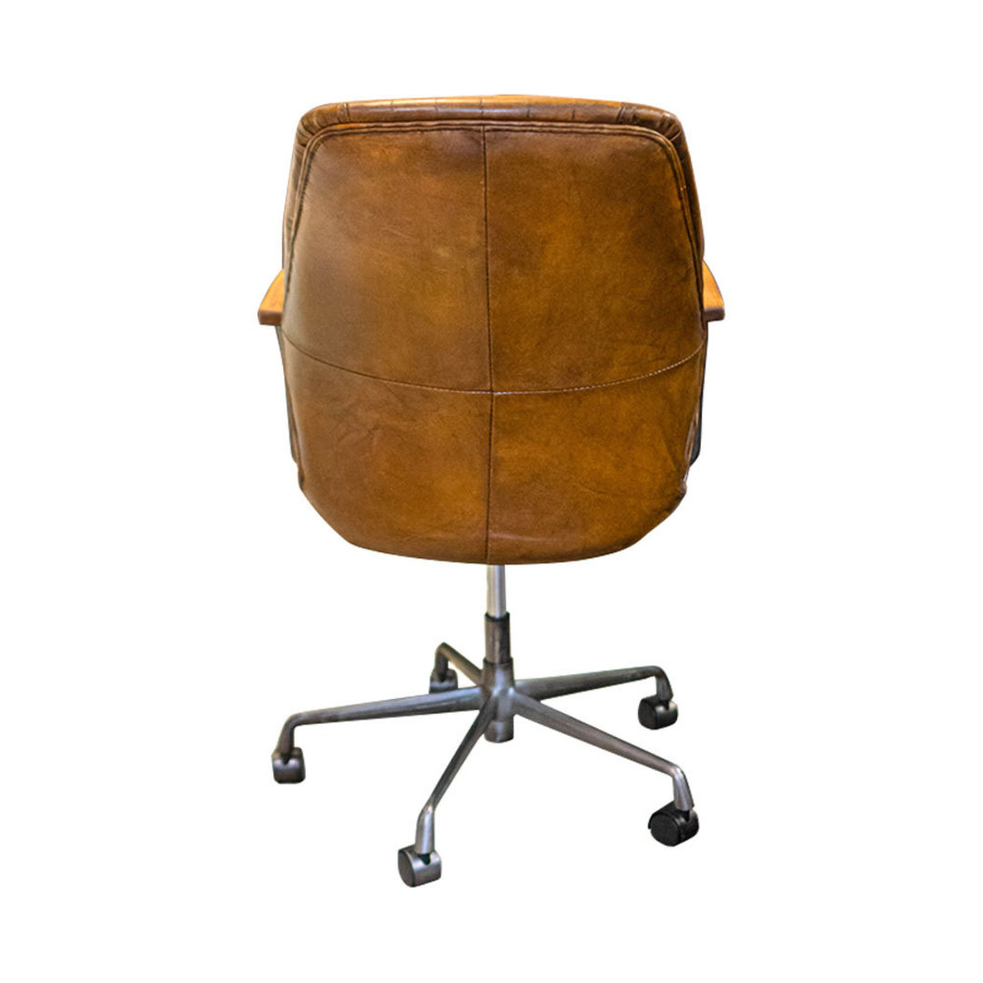 Gloucester Vintage Leather Office Chair Height Adjustable image 2