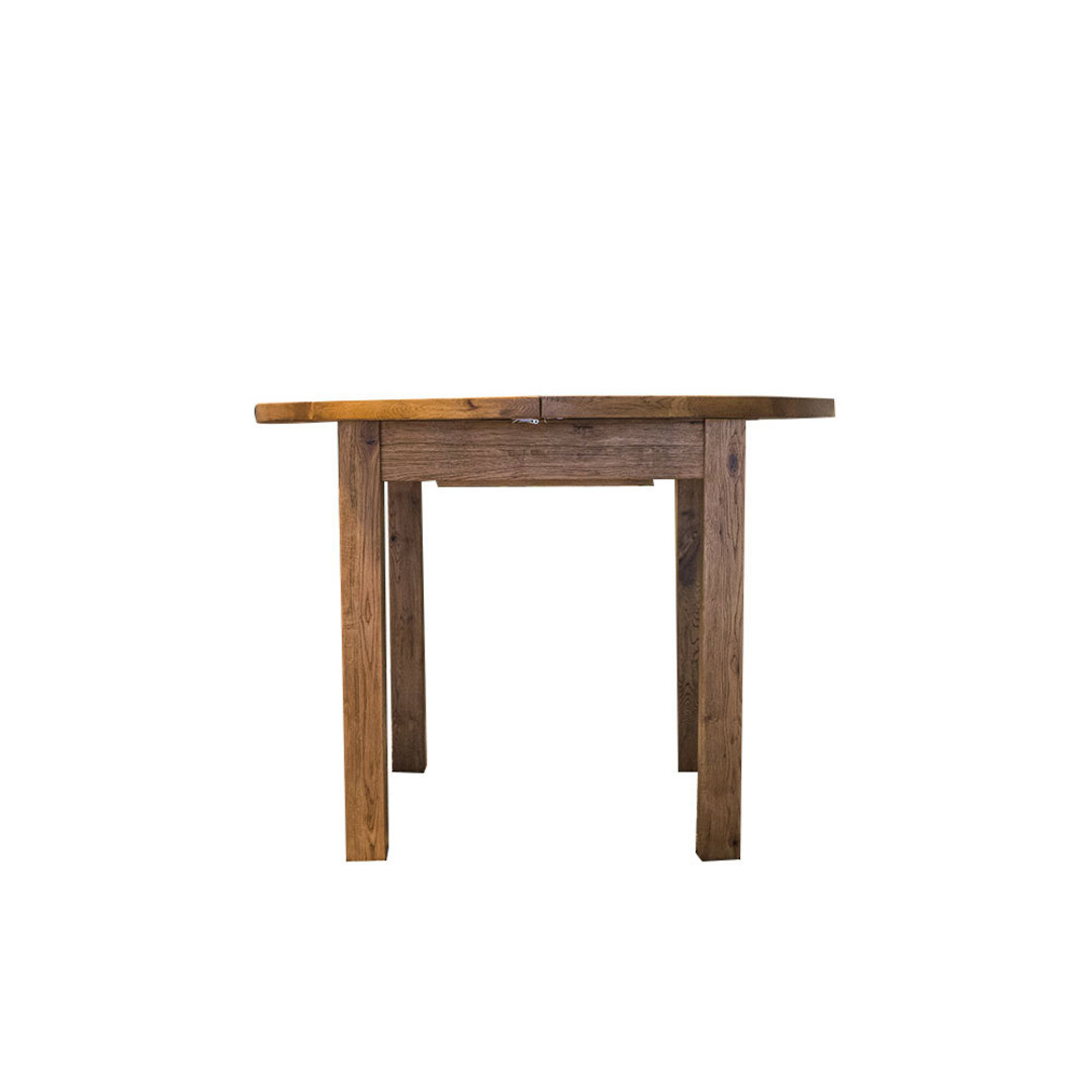 Oak Round Extension Dining Table 106cm image 1