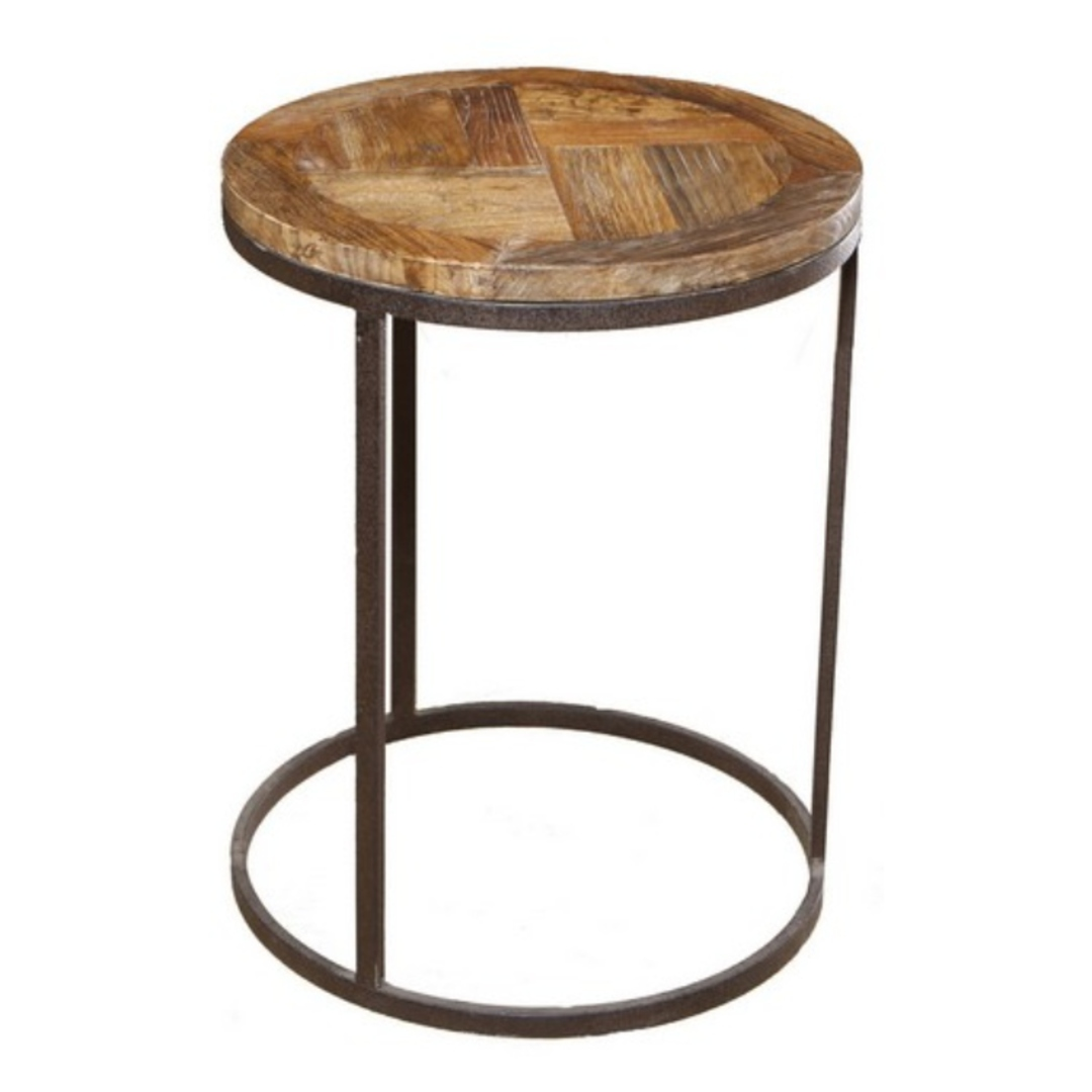 Round Industrial Side Table image 0