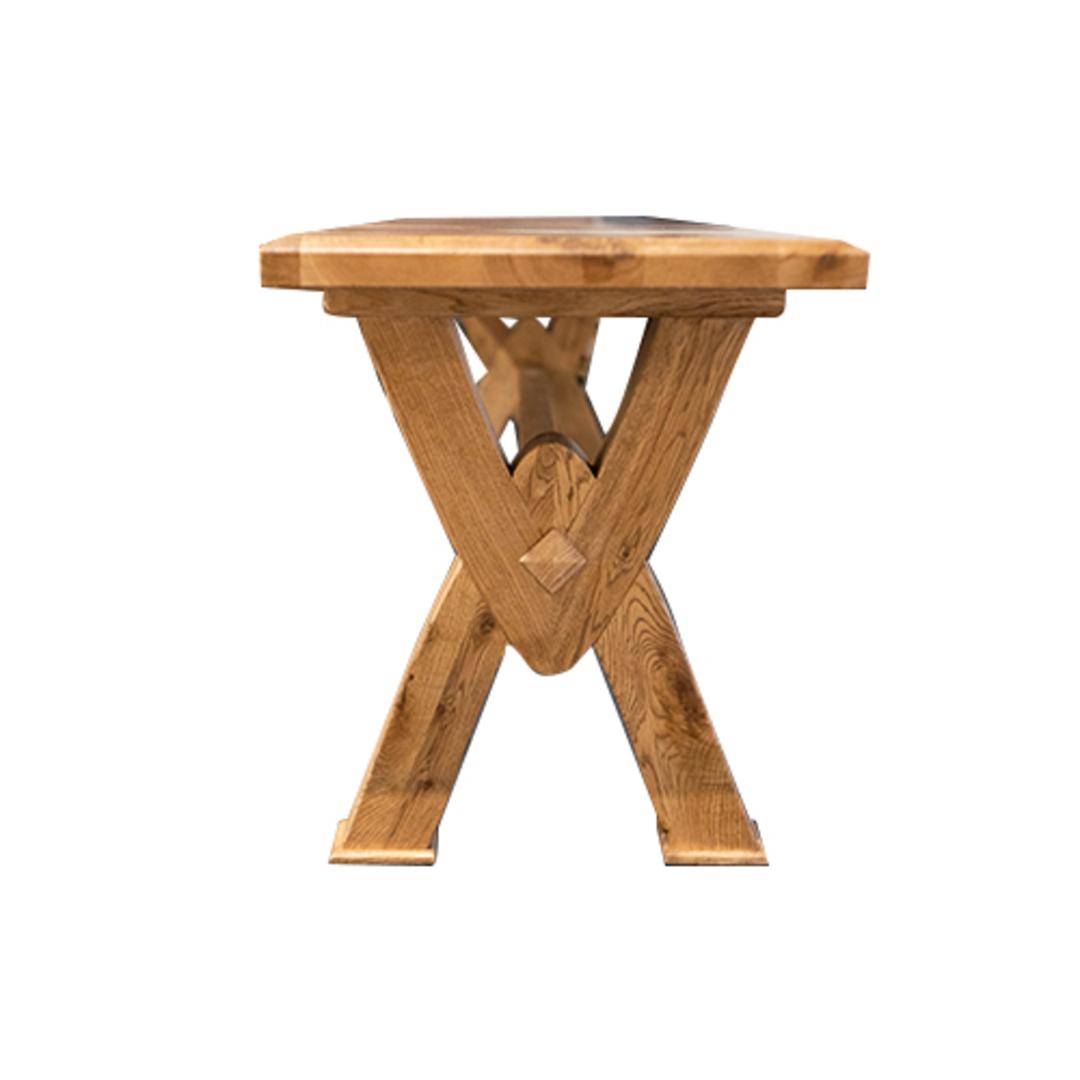 Antique Light Oak Bench Seat 2M image 1