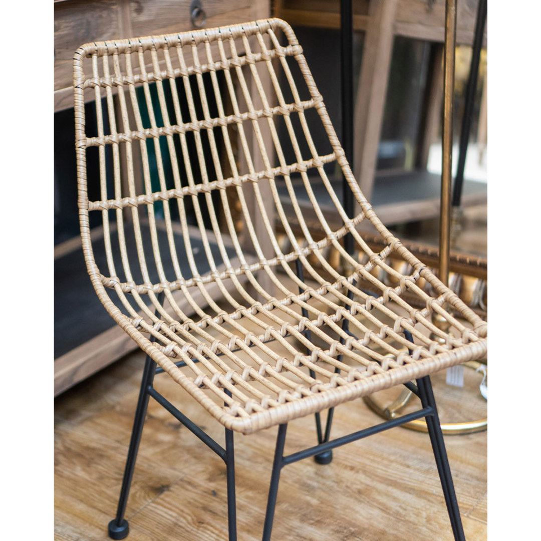 Wicker PE Dining Chair Natural image 3
