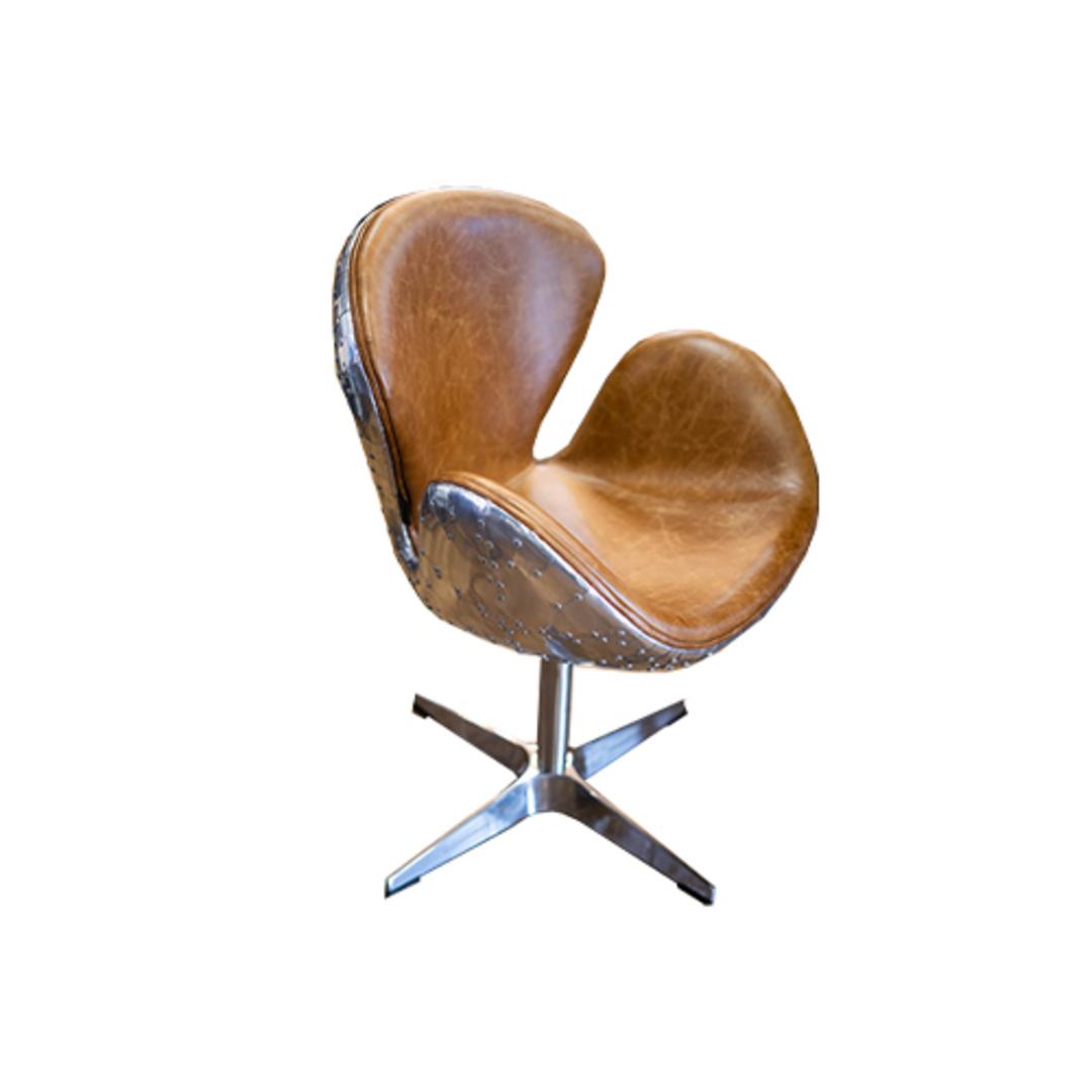 Aviator Swivel Chair Vintage Tan image 0