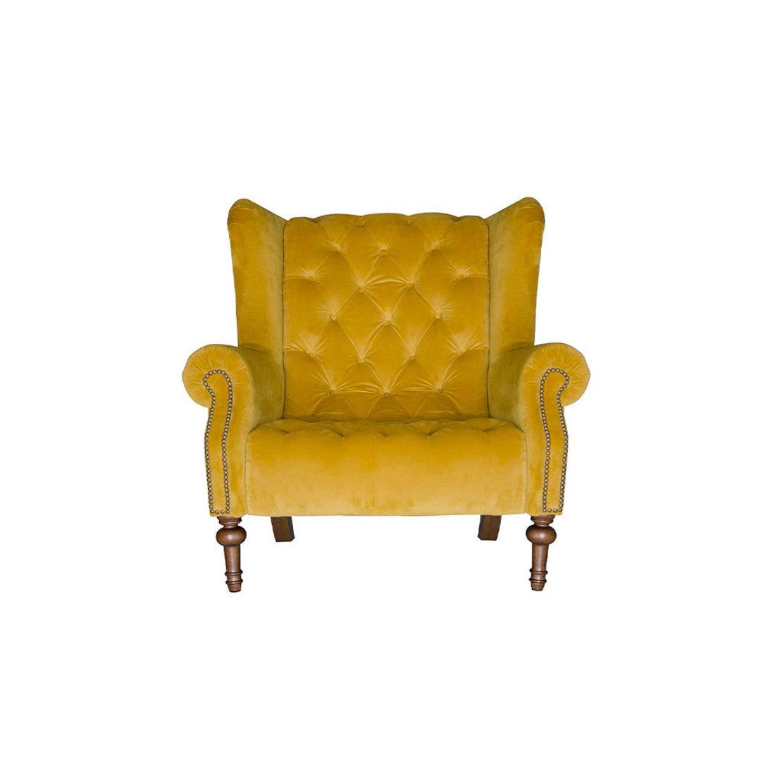 Theo Chair Plush Turmeric image 0
