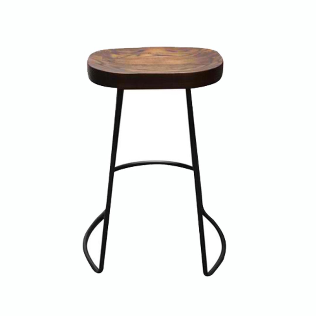 Prospect Barstool With Elm Seat image 1