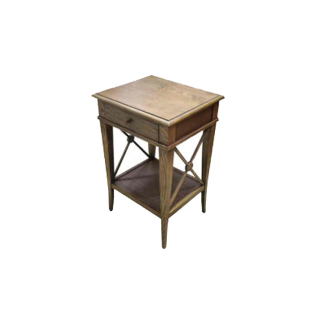Villa Bedside Table - Washed Ash image 0
