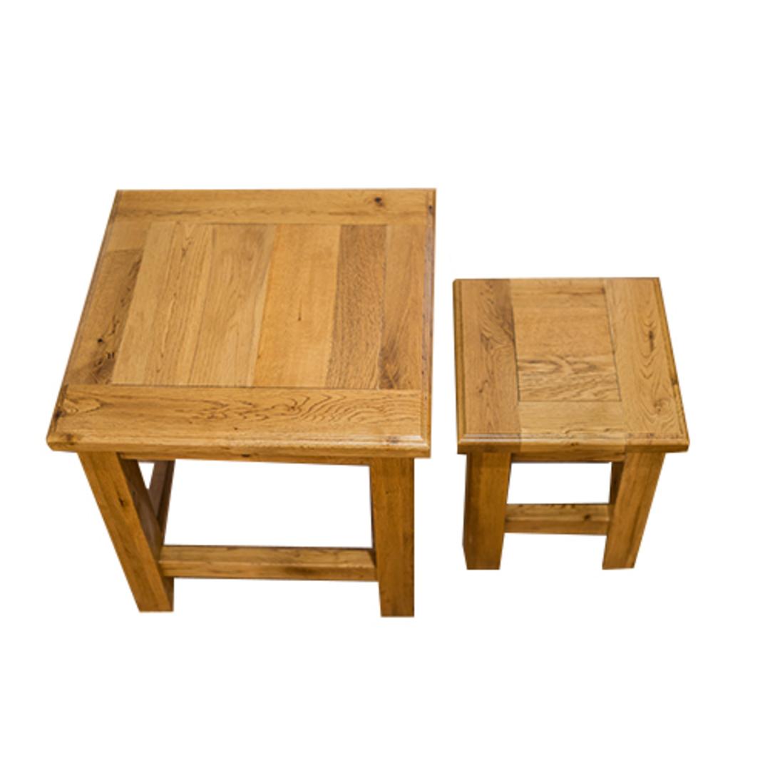 Oak Nest Tables Set 2 image 2