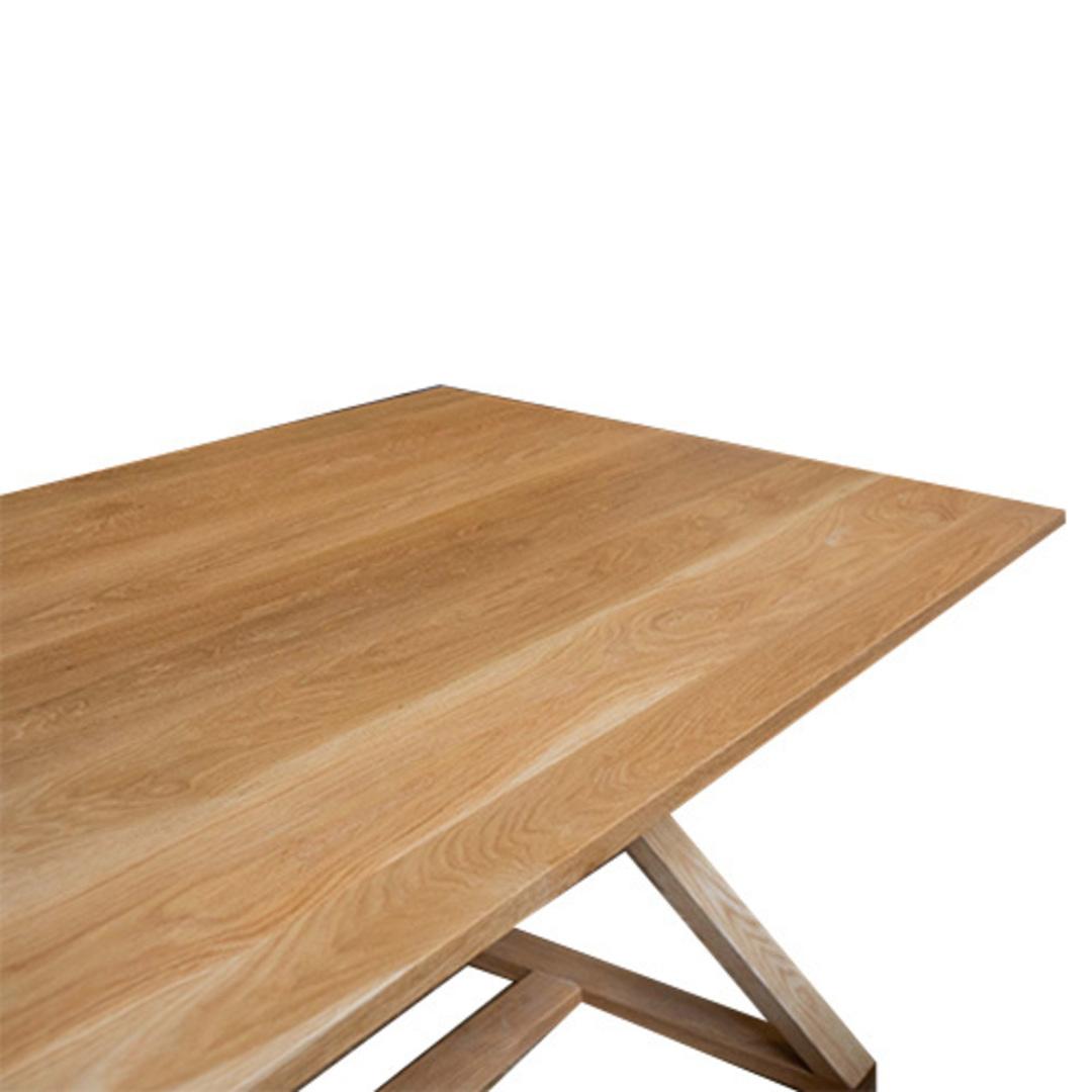 Oakleigh X-Leg Oak Table 2M image 4