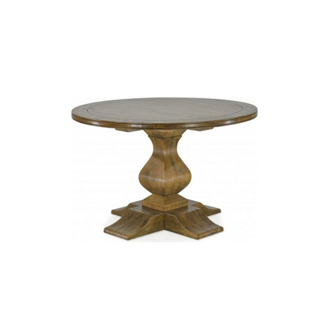 Antique Mango Wood Round Table 120cm image 0