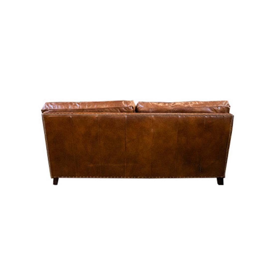 Churchill Aged Italian Leather 3 Seater image 3