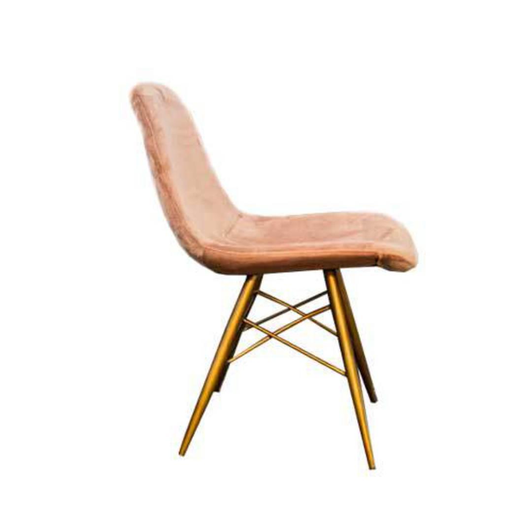 Naples Dining Chair Plush Pink Velvet image 1