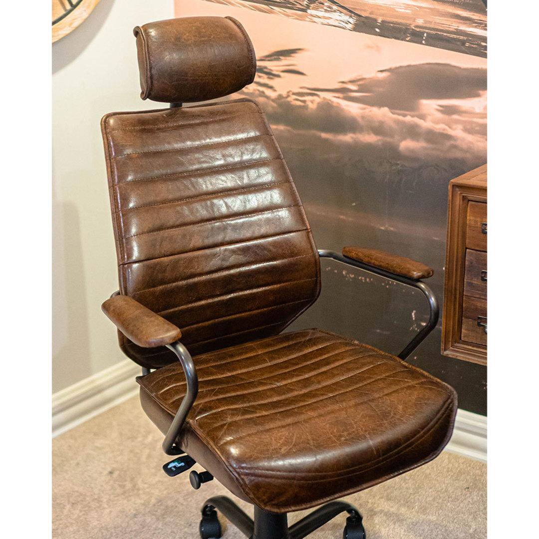 Birmingham Vintage Leather Study Chair image 3