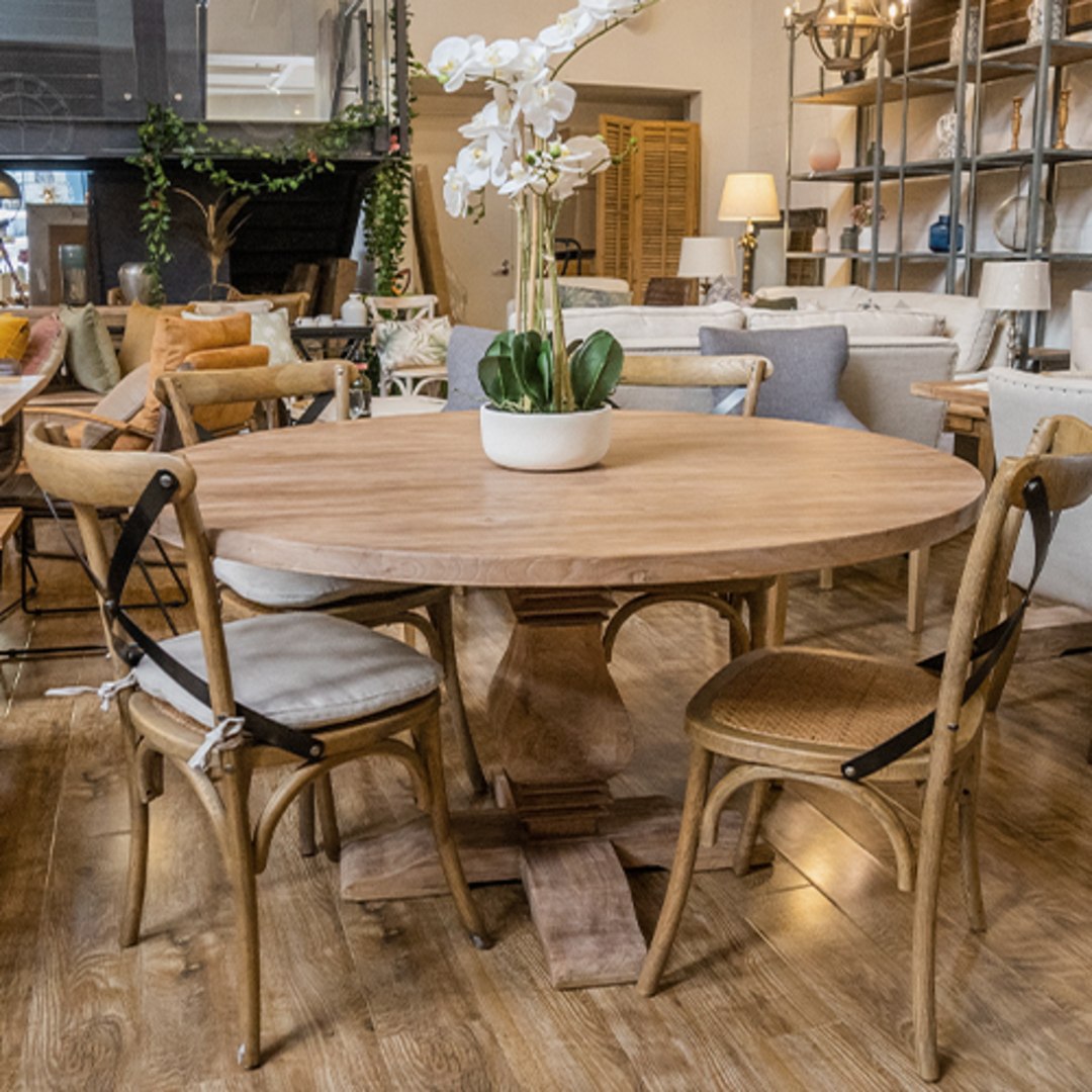 Recycled Elm Round Dining Table 1.5M image 3