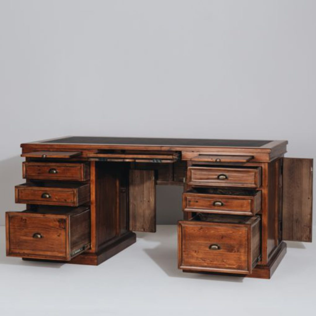Baltic Office 6 Drawer Desk Large image 2