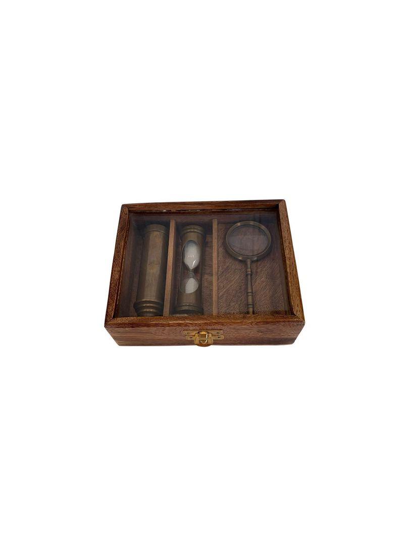 Sand Timer, Telescope & Magnifier Set 3 Gift Set image 1