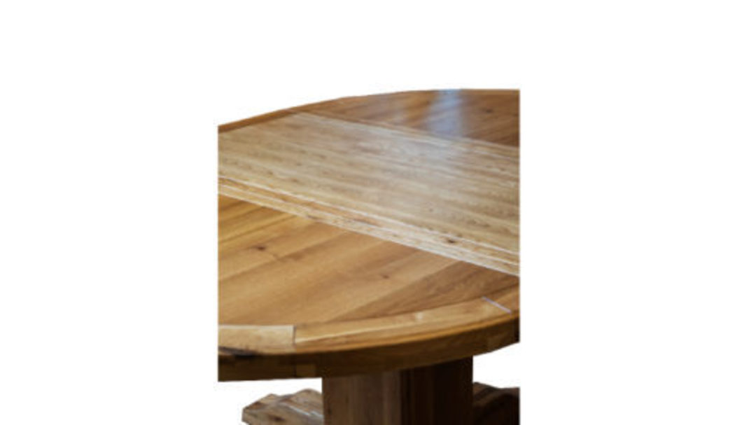 Oak Round Extension Table image 3